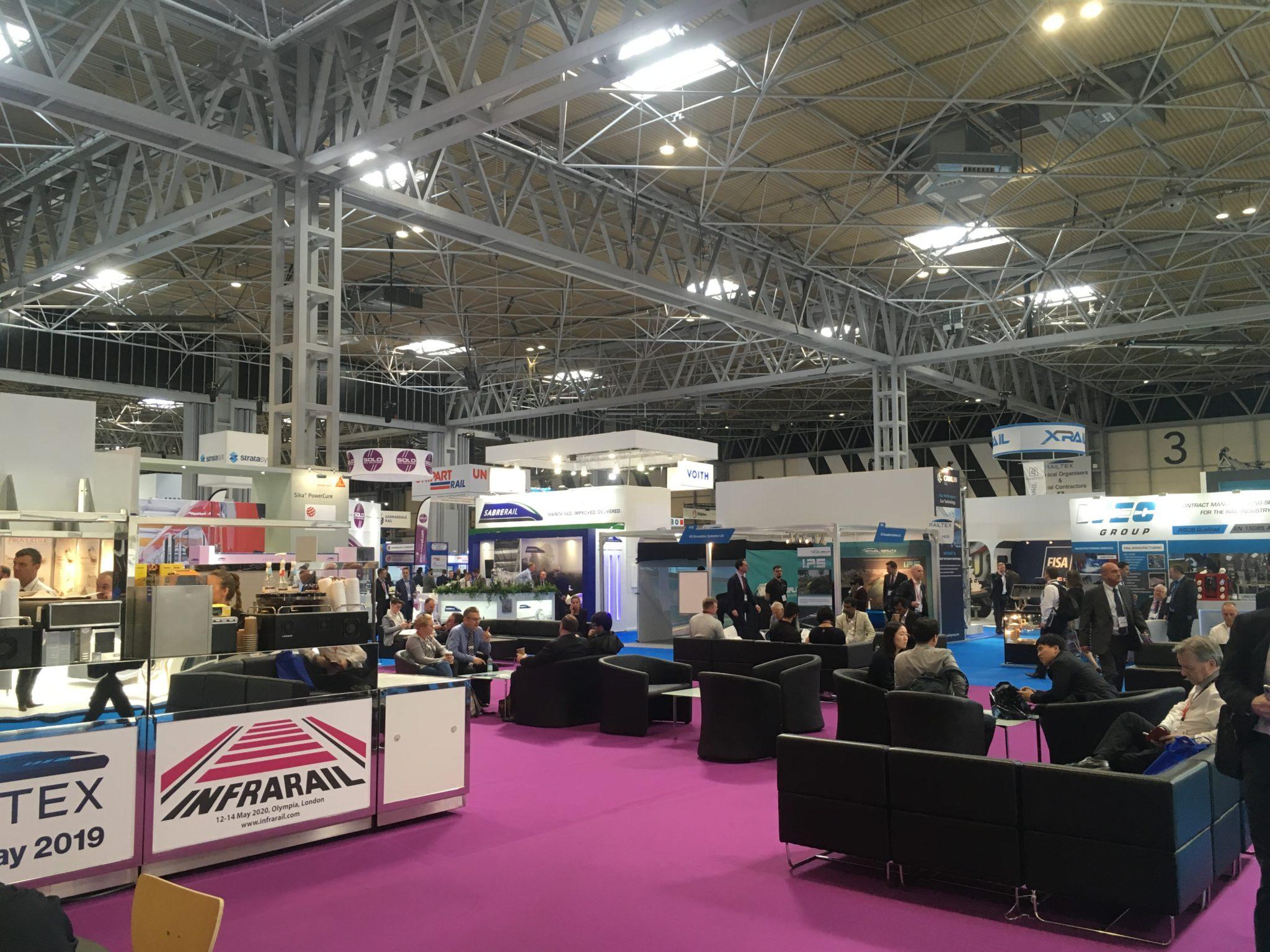 Railtex 2019 interior