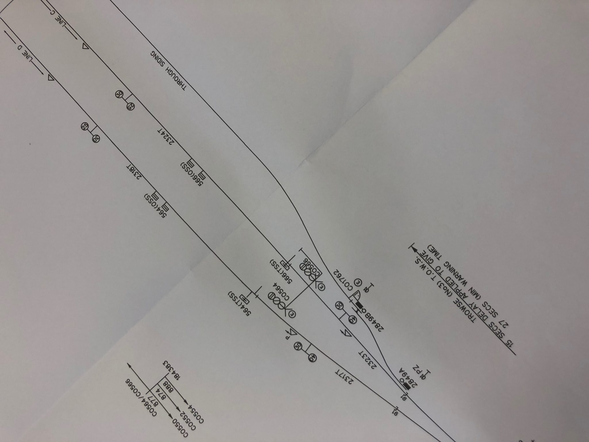 Example Signalling Scheme Plan