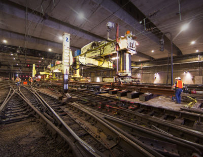 Amtrak Continues New York Penn Station Renewal Works
