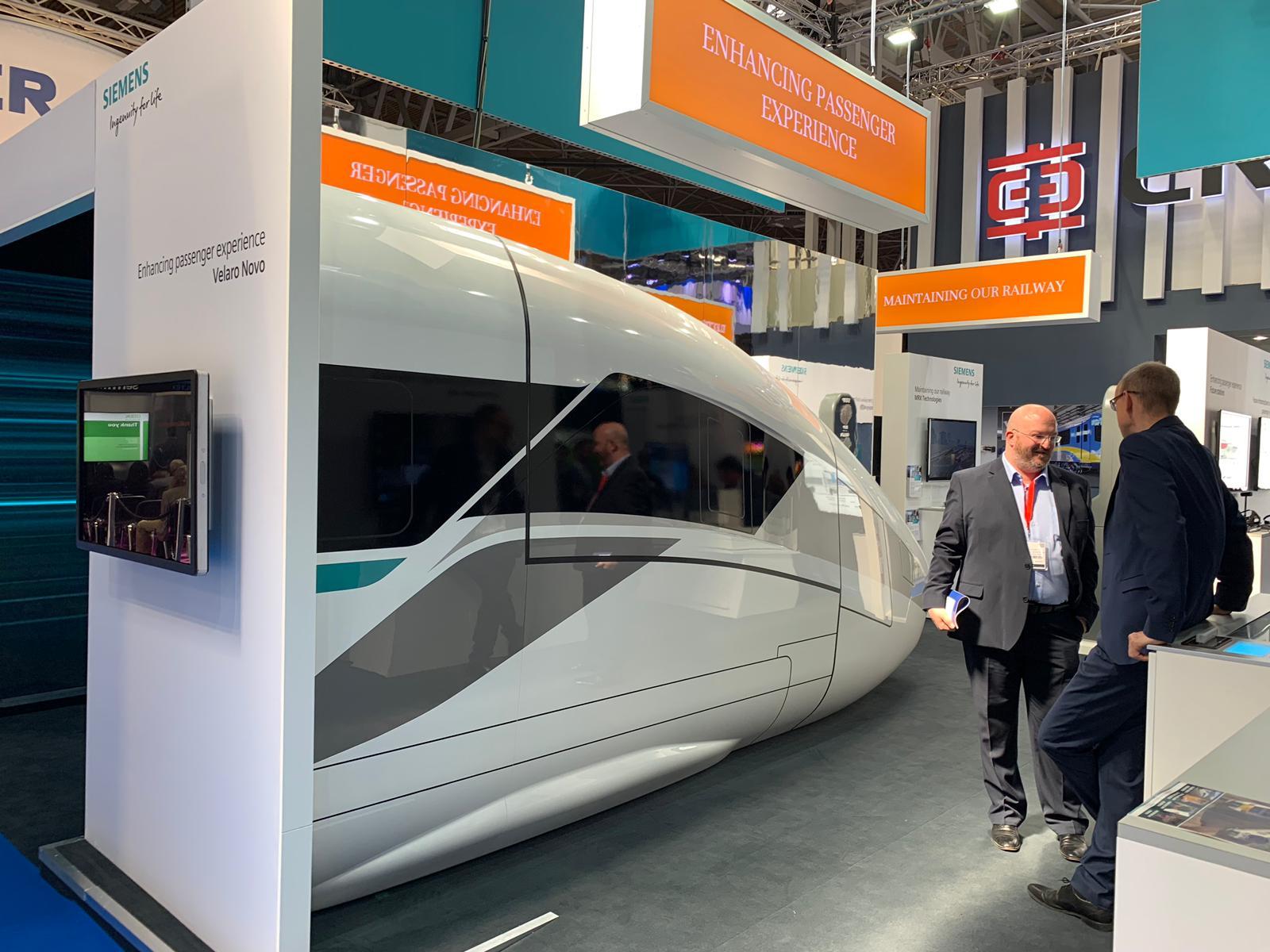 Siemens Mobility's Velaro Novo at Railtex 2019