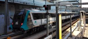 Sydney Metro train: an Alstom Metropolis trainset