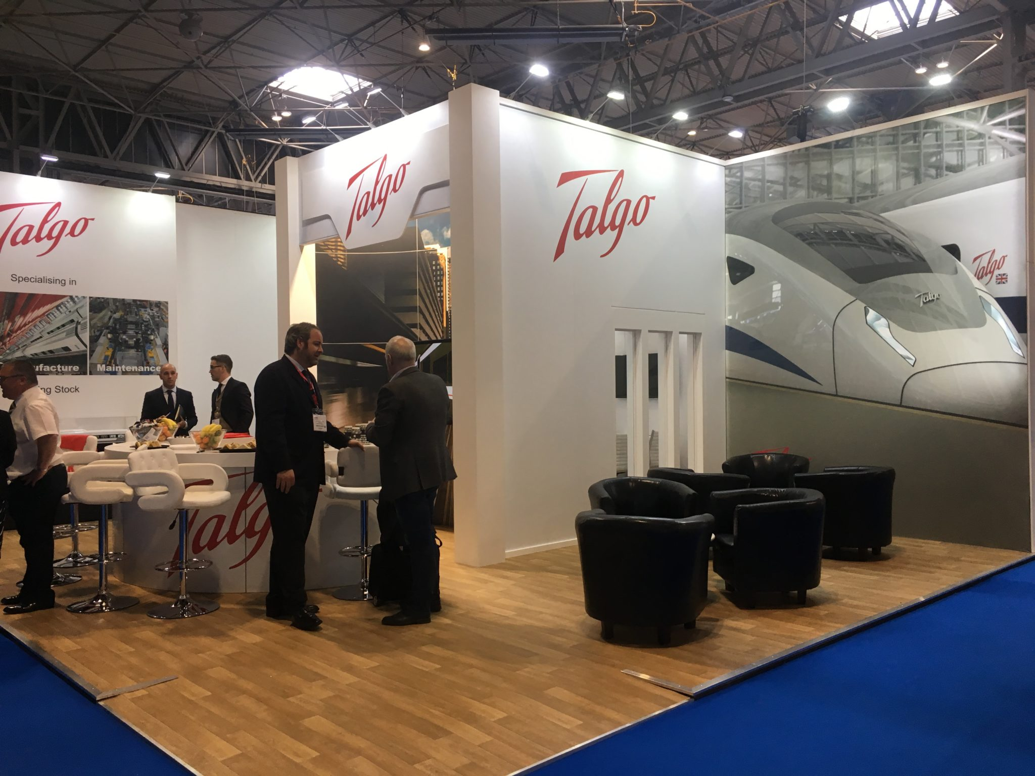 Talgo Stand at Railtex 2019