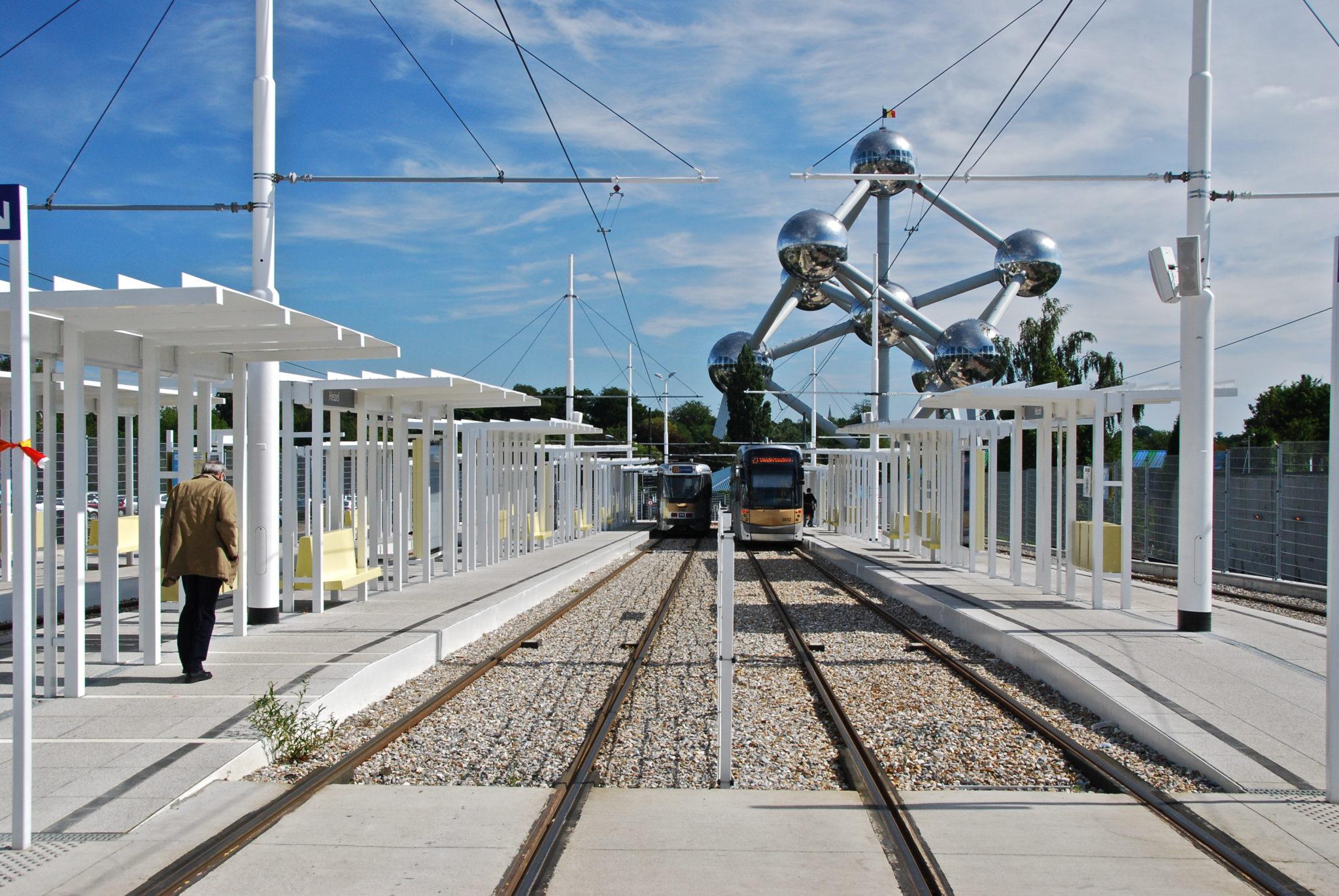 A tram in Brussels