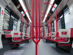 Alstom metro for Lyon Line 2 interior