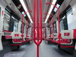 Alstom metro for Lyon Line 2 interior