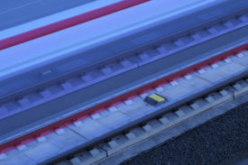 A eurobalise for ETCS allows the train to communicate with the track