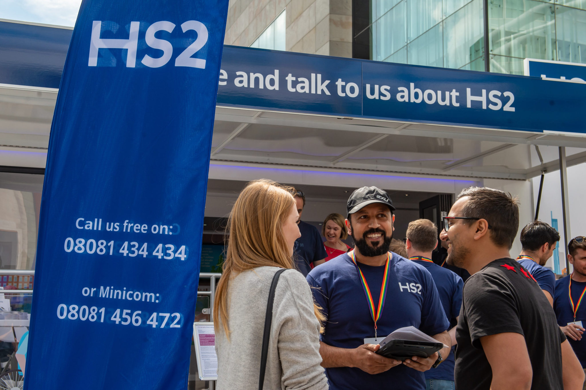 The HS2 Community Engagement trailer at Birmingham Pride