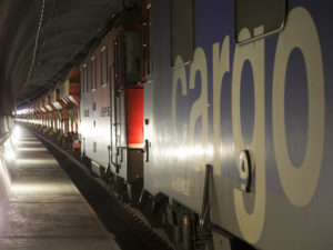 First SBB Cargo freight train in the Gotthard Base Tunnel