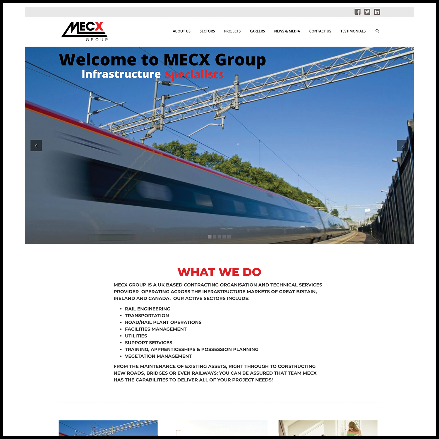 Example Website Build – MECX