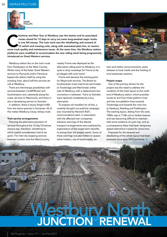 Example PDF – Westbury North Junction Renewal