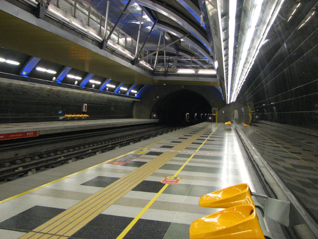 Santiago de Chile metro station Cristobal Colon