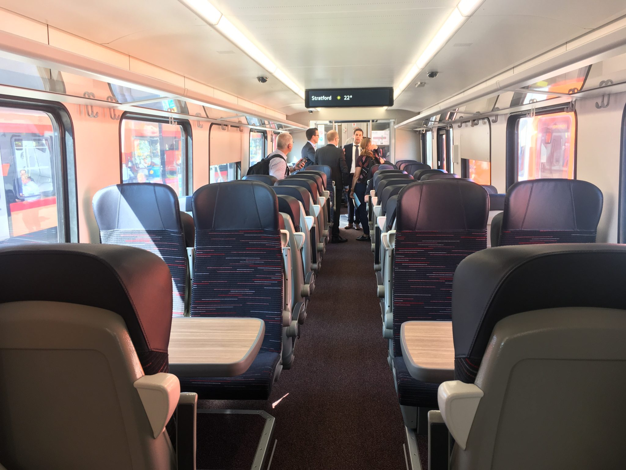 Stadler bi-mode Greater Anglia interior