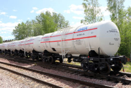 UWC stainless steel tank car for molasses and vegetable oils