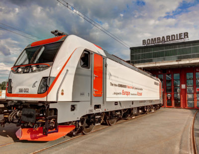 Bombardier TRAXX MS3 Locomotive at Transport Logistic