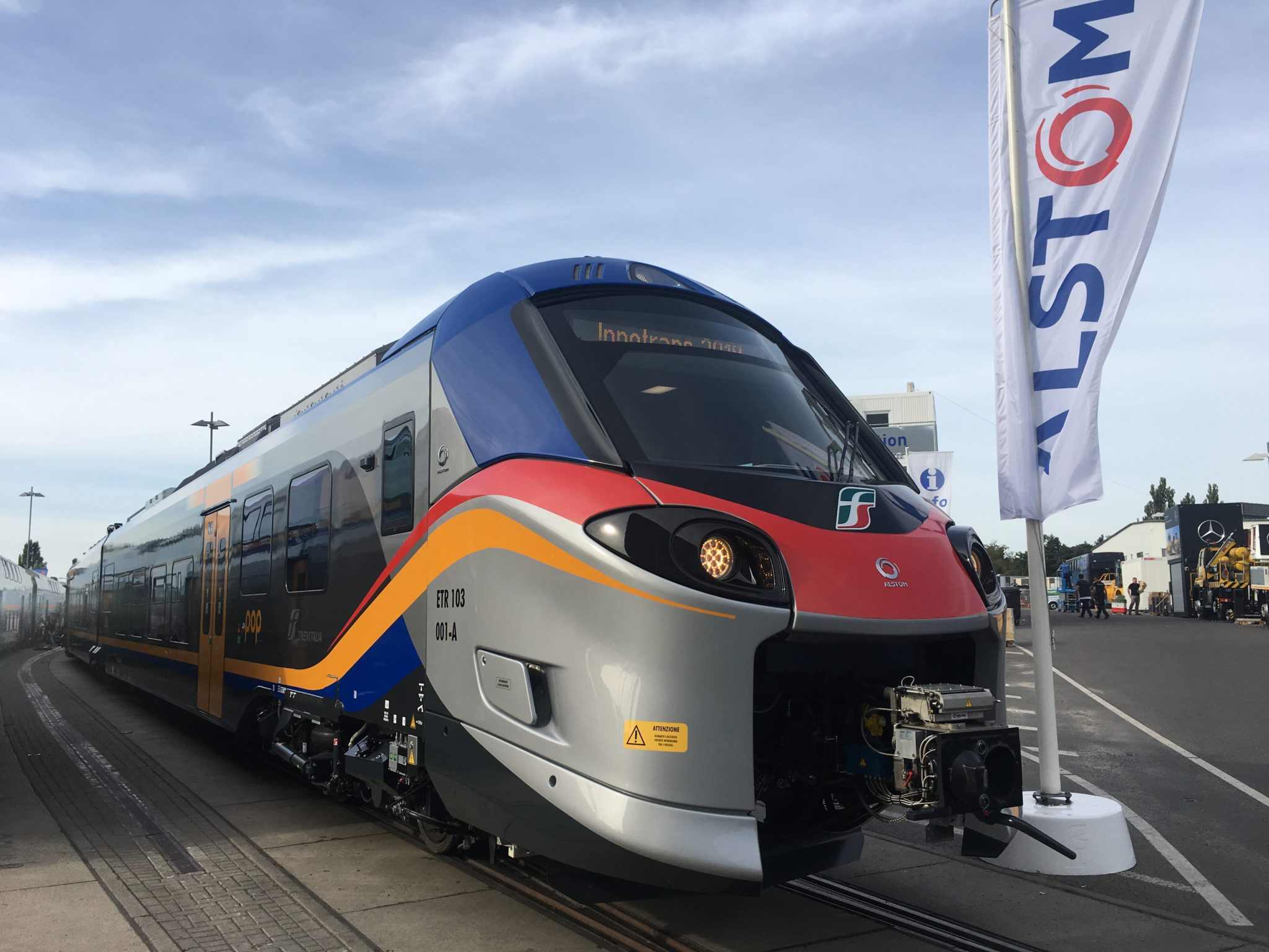 Alstom Jazz train for Trenitalia at InnoTrans 2018