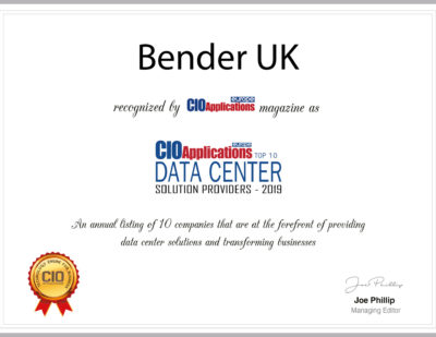 Bender UK Among Top 10 Data Center Solution Providers