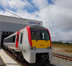 Refurbished exterior of the Class 175 Alstom Coradia DMU