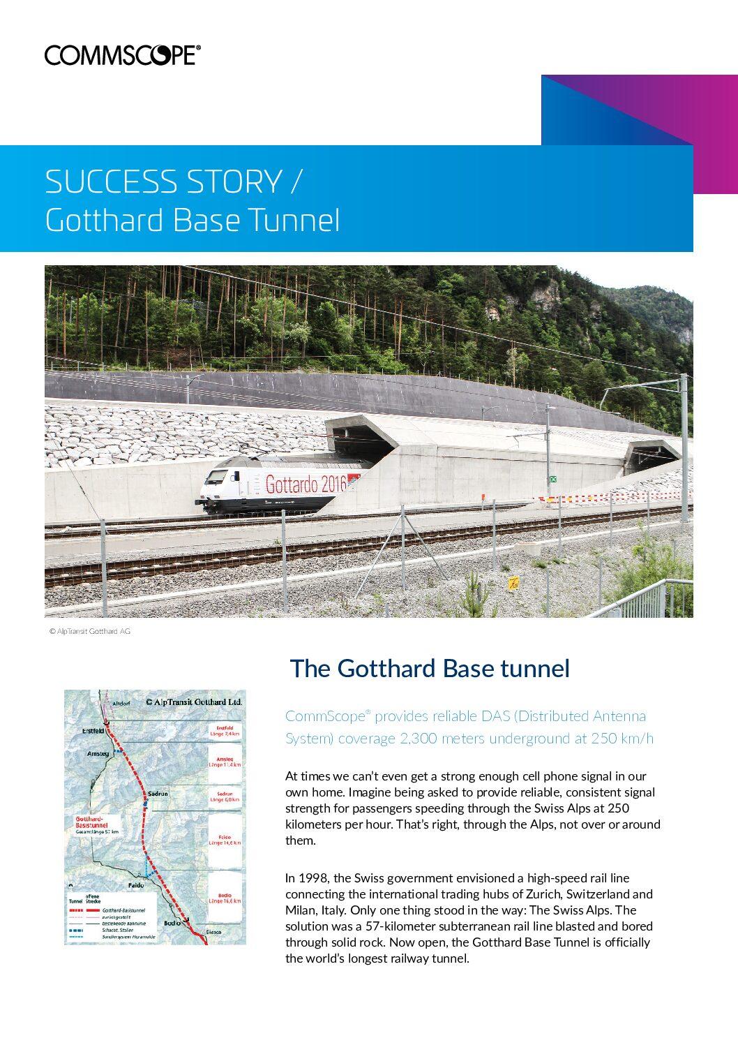 Gotthard Base Tunnel Case Study