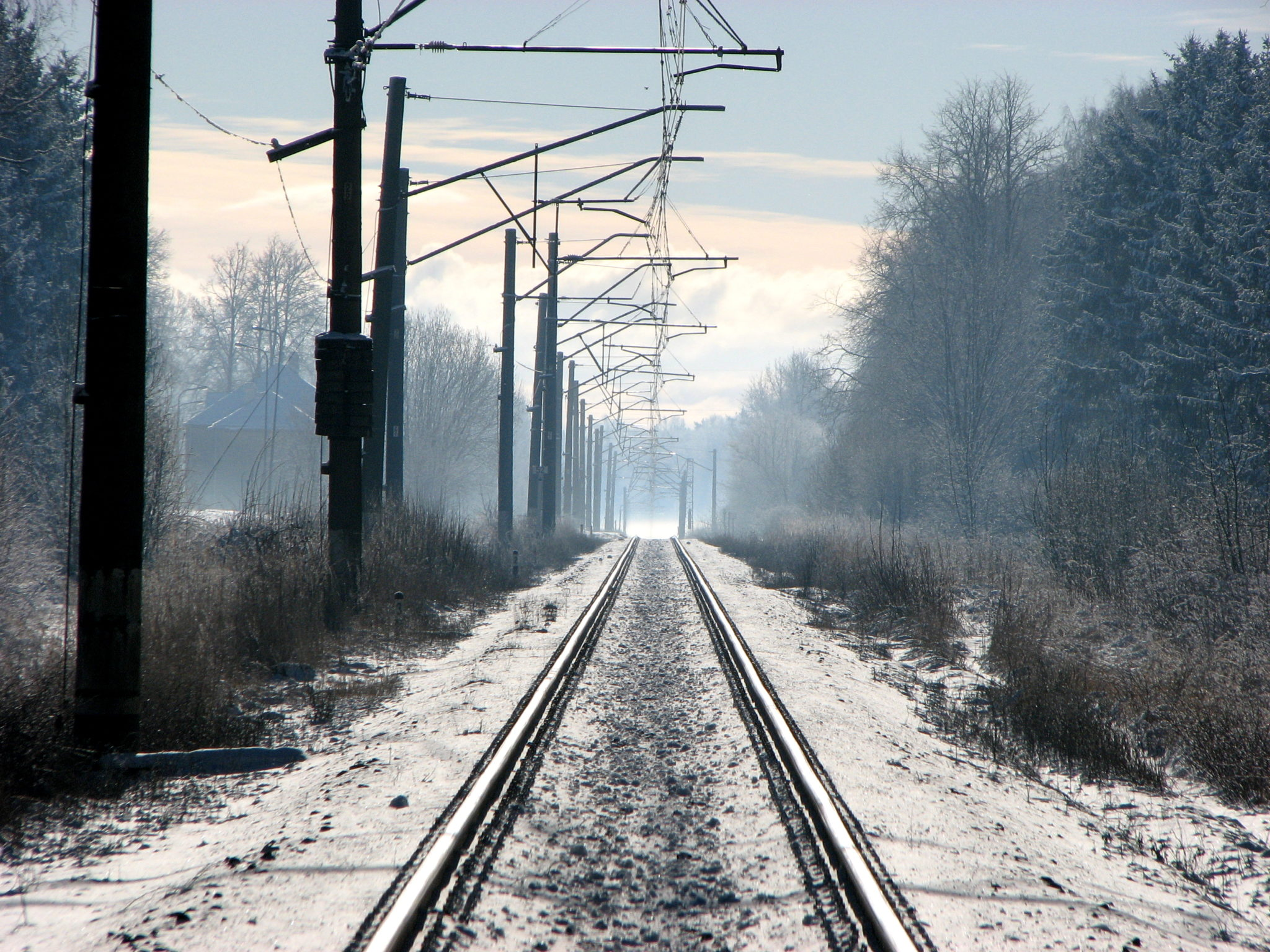 Electrified railway line in Latvia