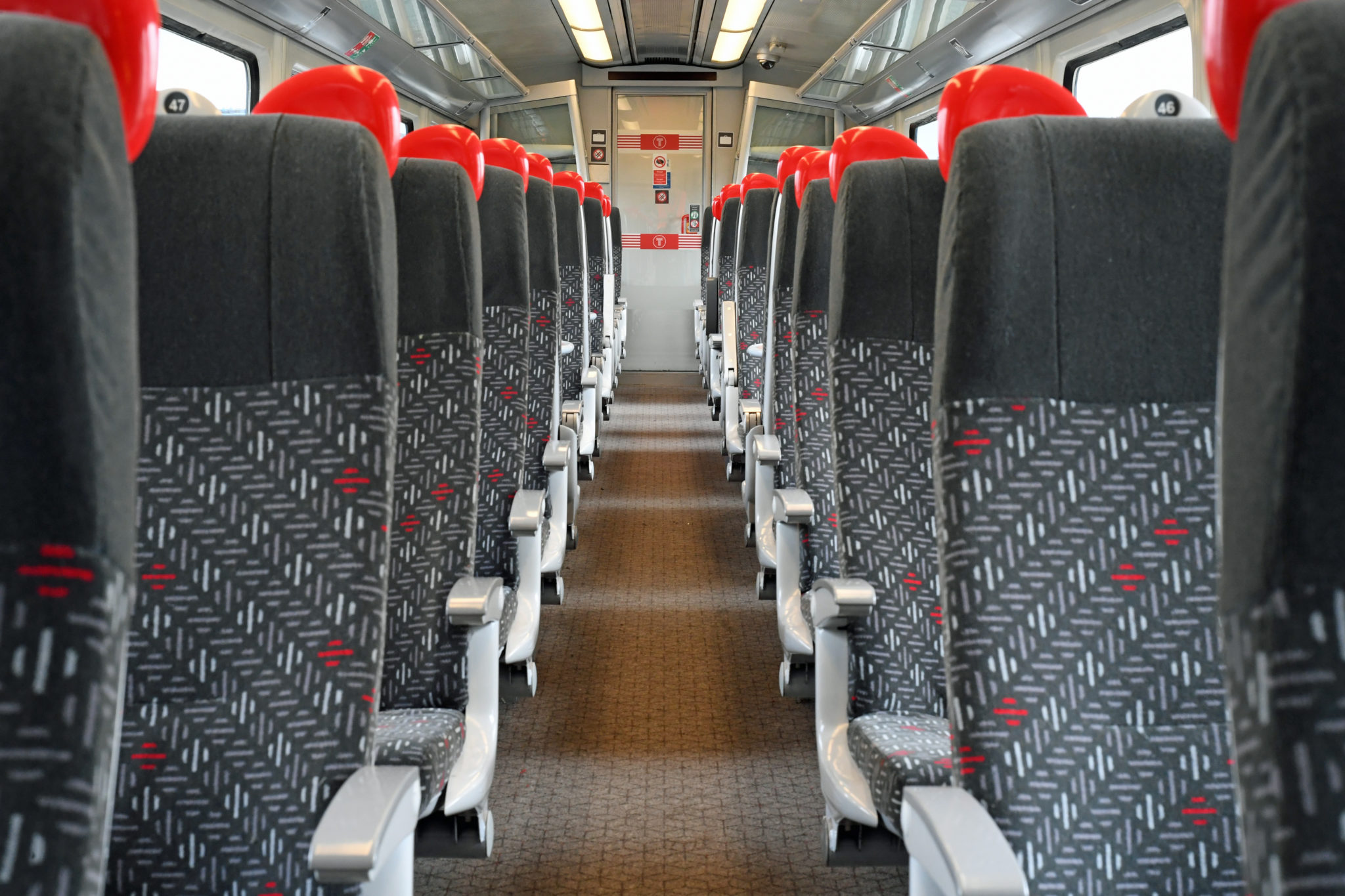 Refurbished interior of the Class 175 Alstom Coradia DMU