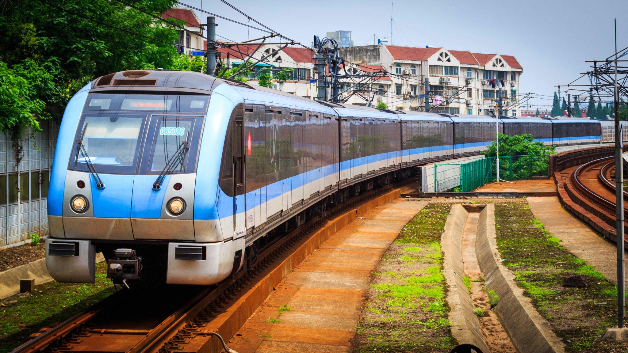 Alstom train on Nanjing Metro Line 1
