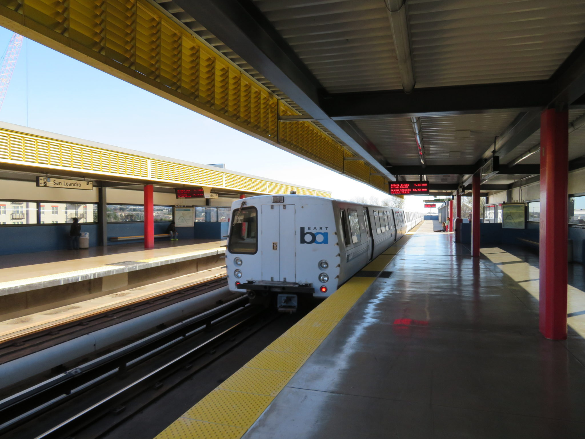 Train at BART San Leandro station