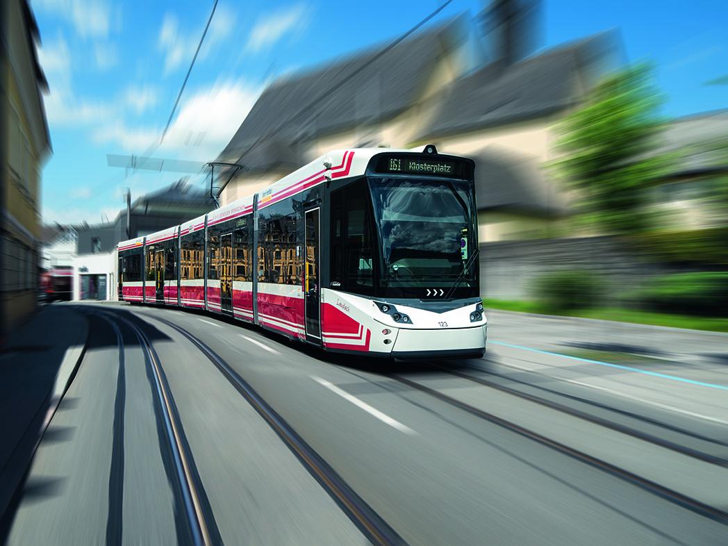A Stadler TRAMLINK tram for Gmunden, Austria
