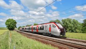 Tri-mode train in Wales
