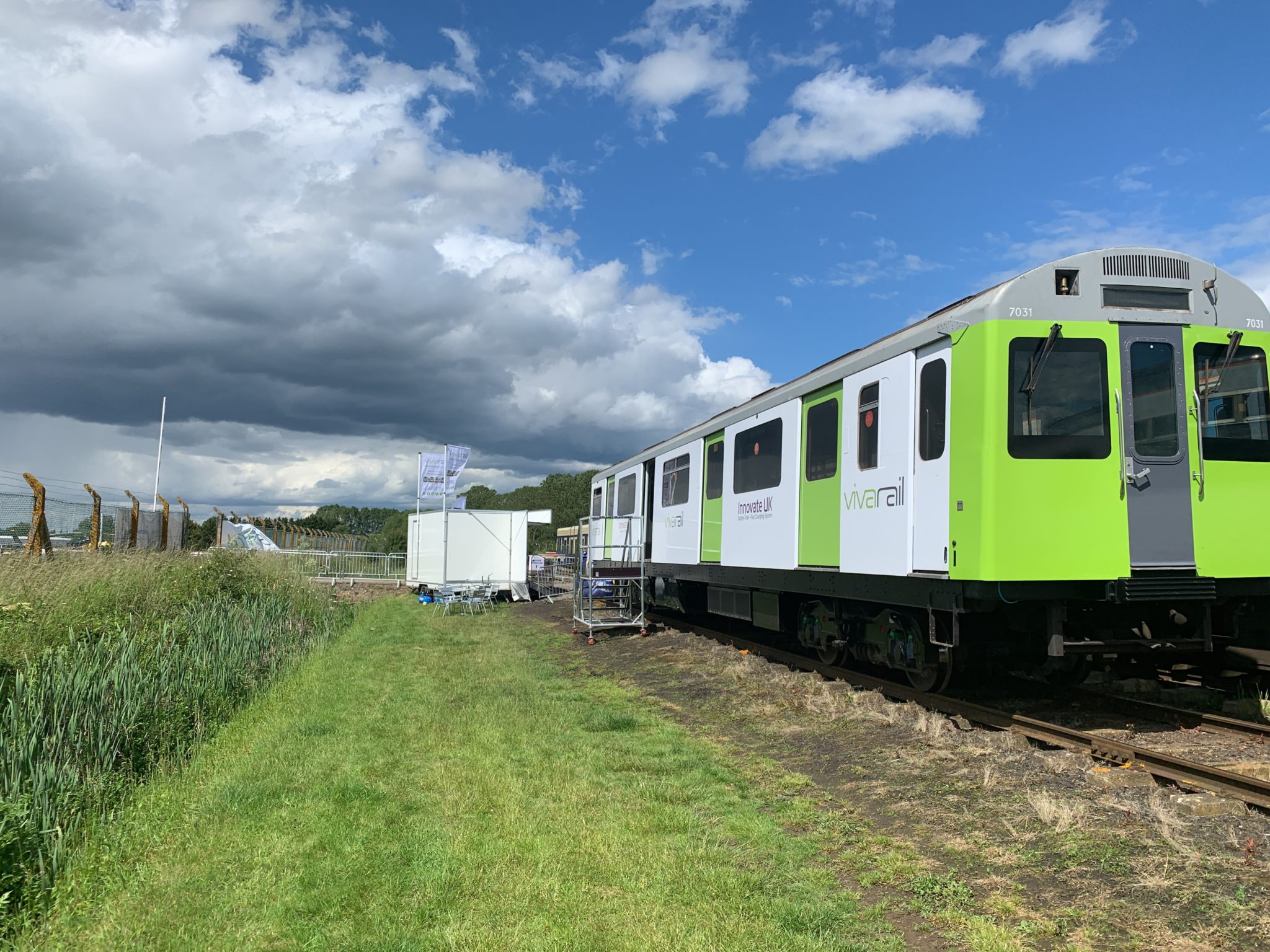 Vivarail battery train at Rail Live 2019