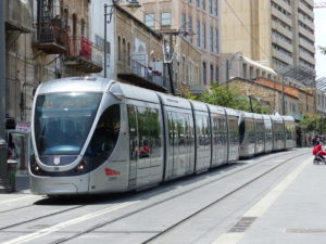Alstom Citadis tram on Jerusalem's Red Line