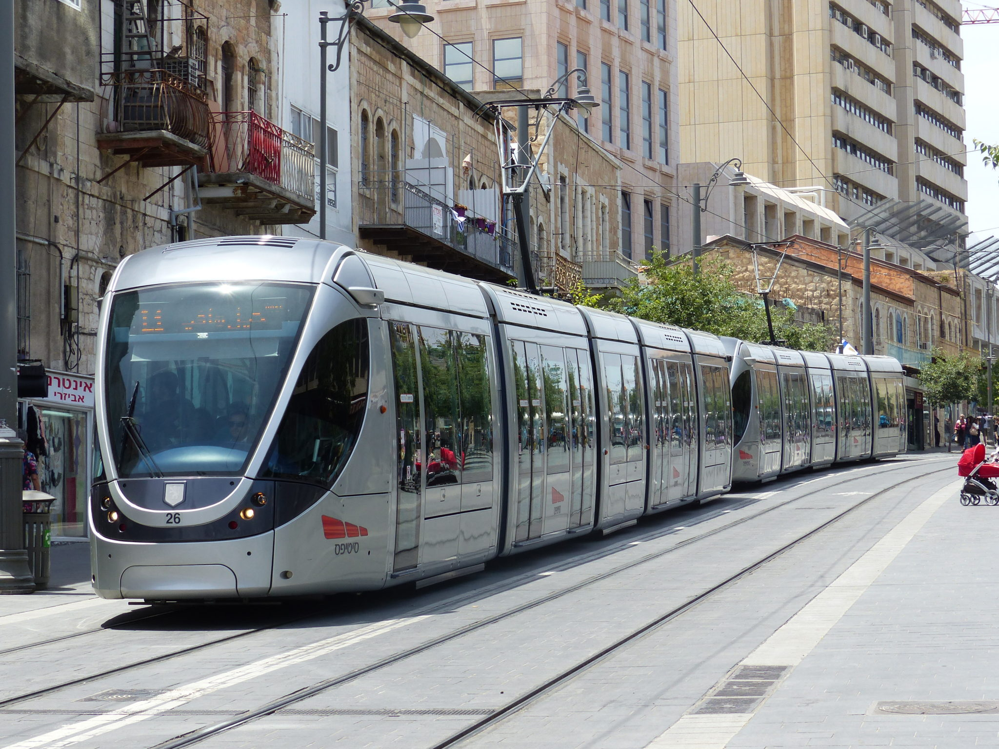 Alstom Citadis tram on Jerusalem's Red Line