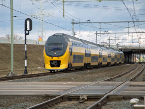 Double-decker passenger train Netherlands