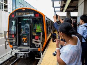 First new CRRC MBTA Orange Line train enters service