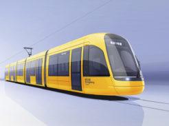 Alstom Citadis Silkworm tram for Songjiang