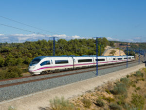 High-speed train in Spain