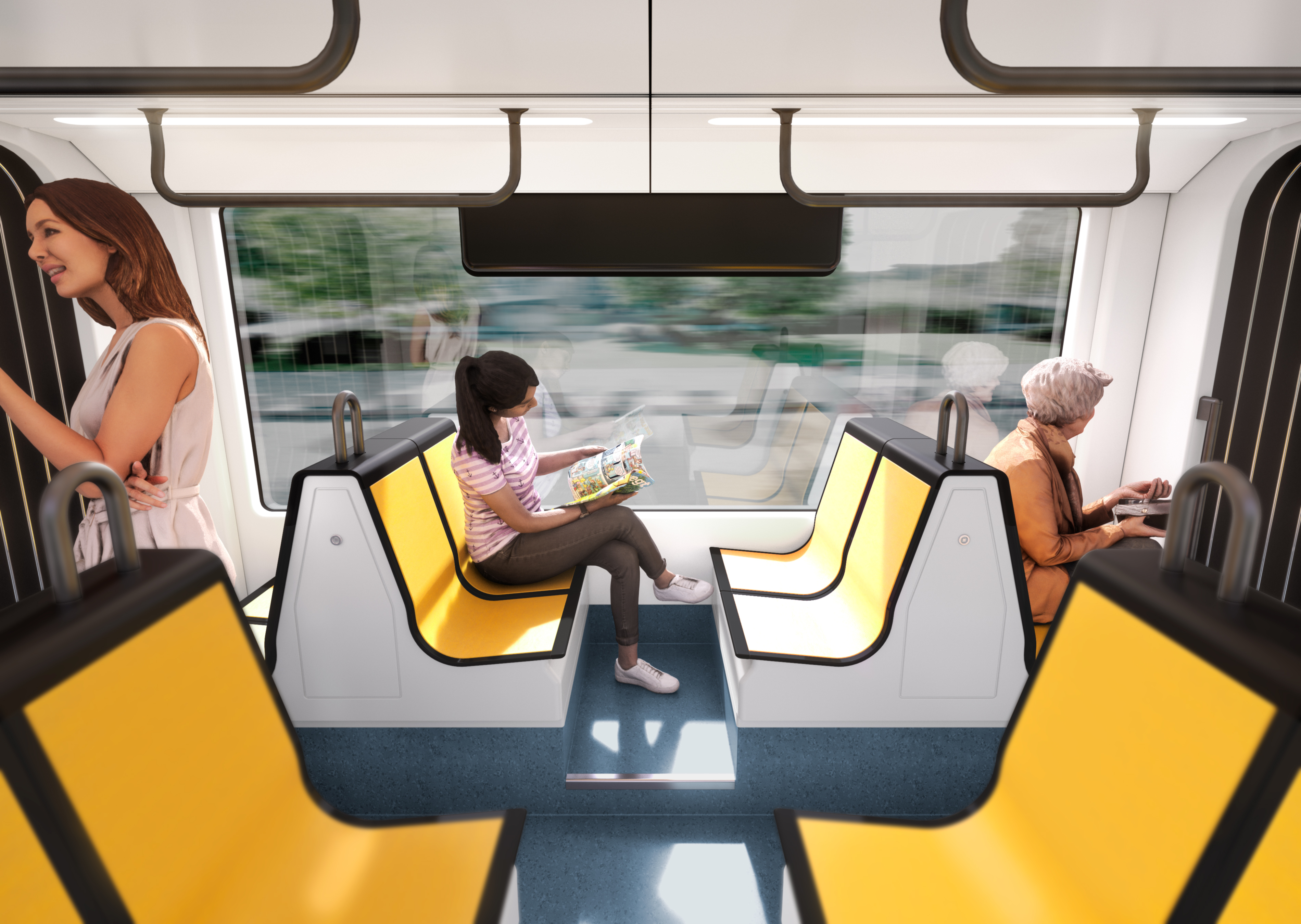 Dresden FLEXITY trams - interior