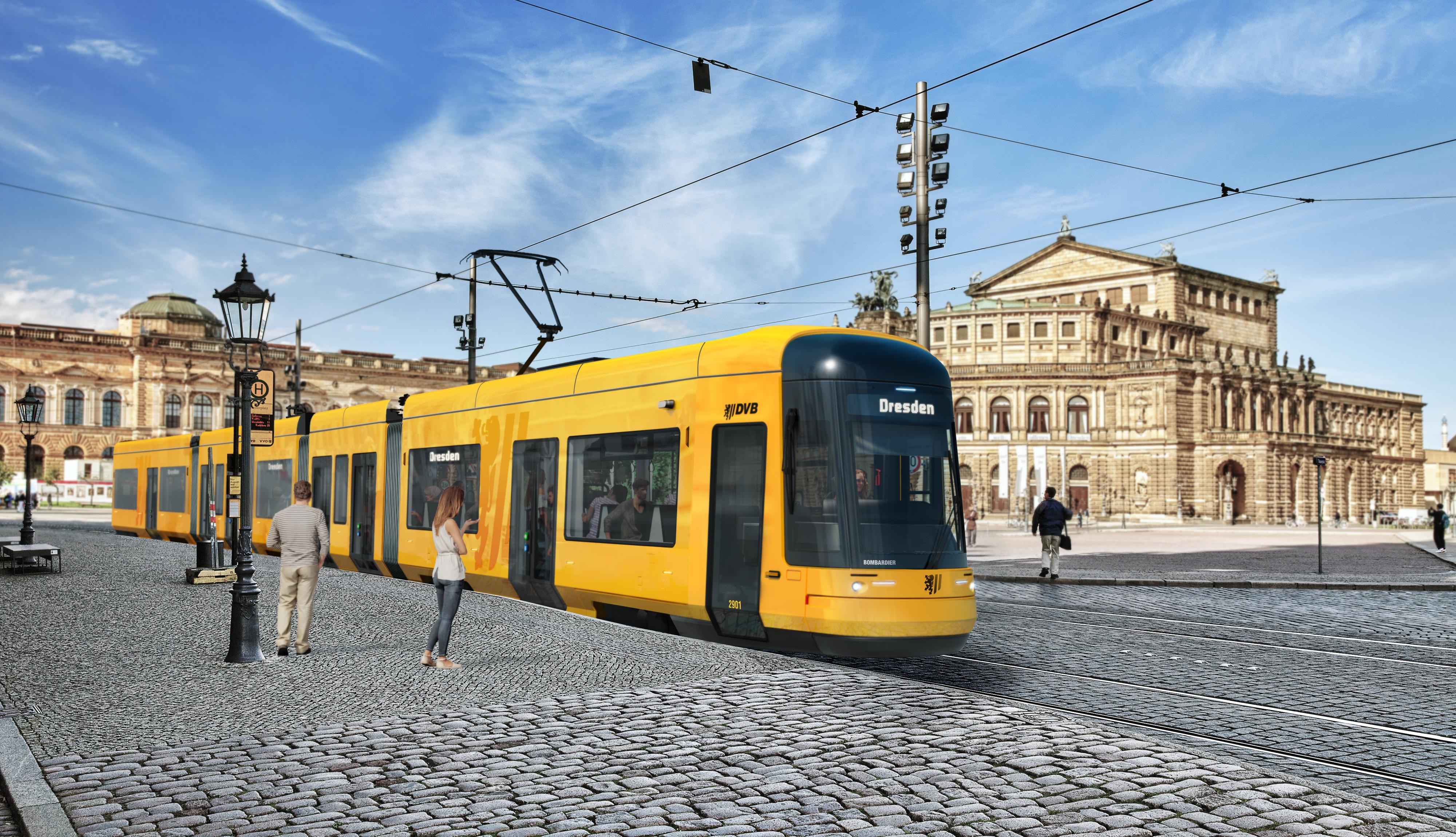 Bombardier FLEXITY tram Dresden design