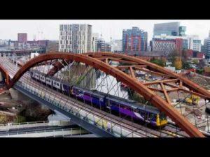 First Passenger Trains Cross the Ordsall Chord