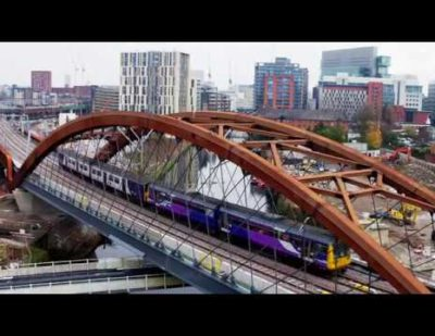 First Passenger Trains Cross the Ordsall Chord