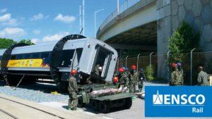 """ENSCO """"Rollover Rig"""" – Rail Emergency Evacuation Simulator"""