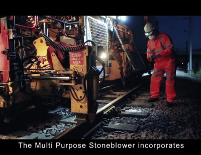 Harsco Rail's Multipurpose Stoneblower