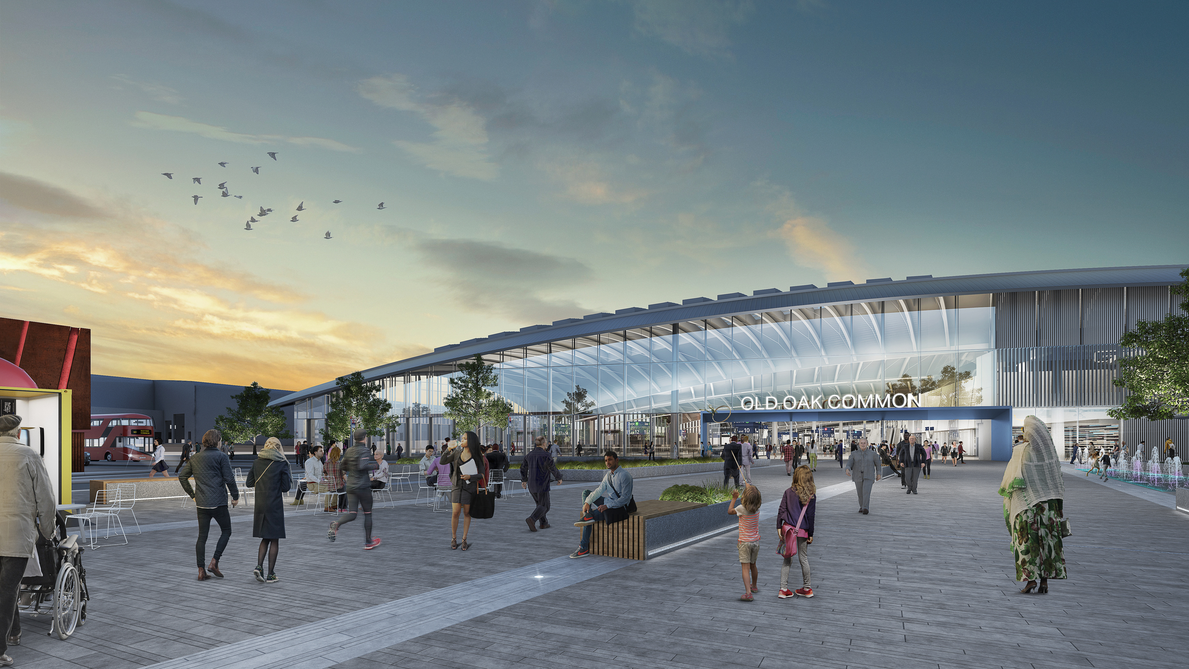 artist's impression of Old Oak Common station