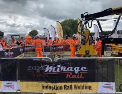 Mirage Induction Rail Welding Demonstration