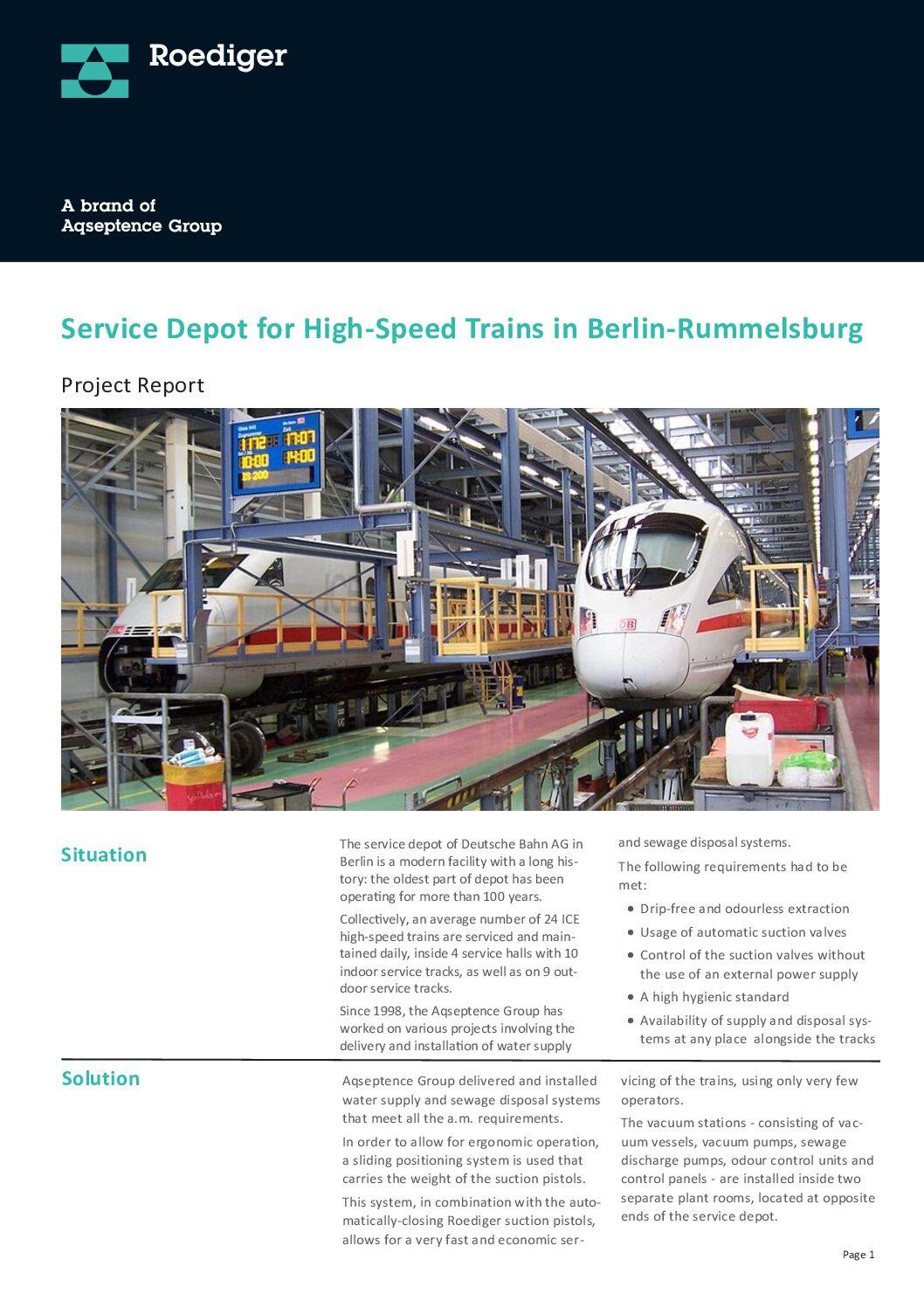 Case Study: Service Depot of Deutsche Bahn AG