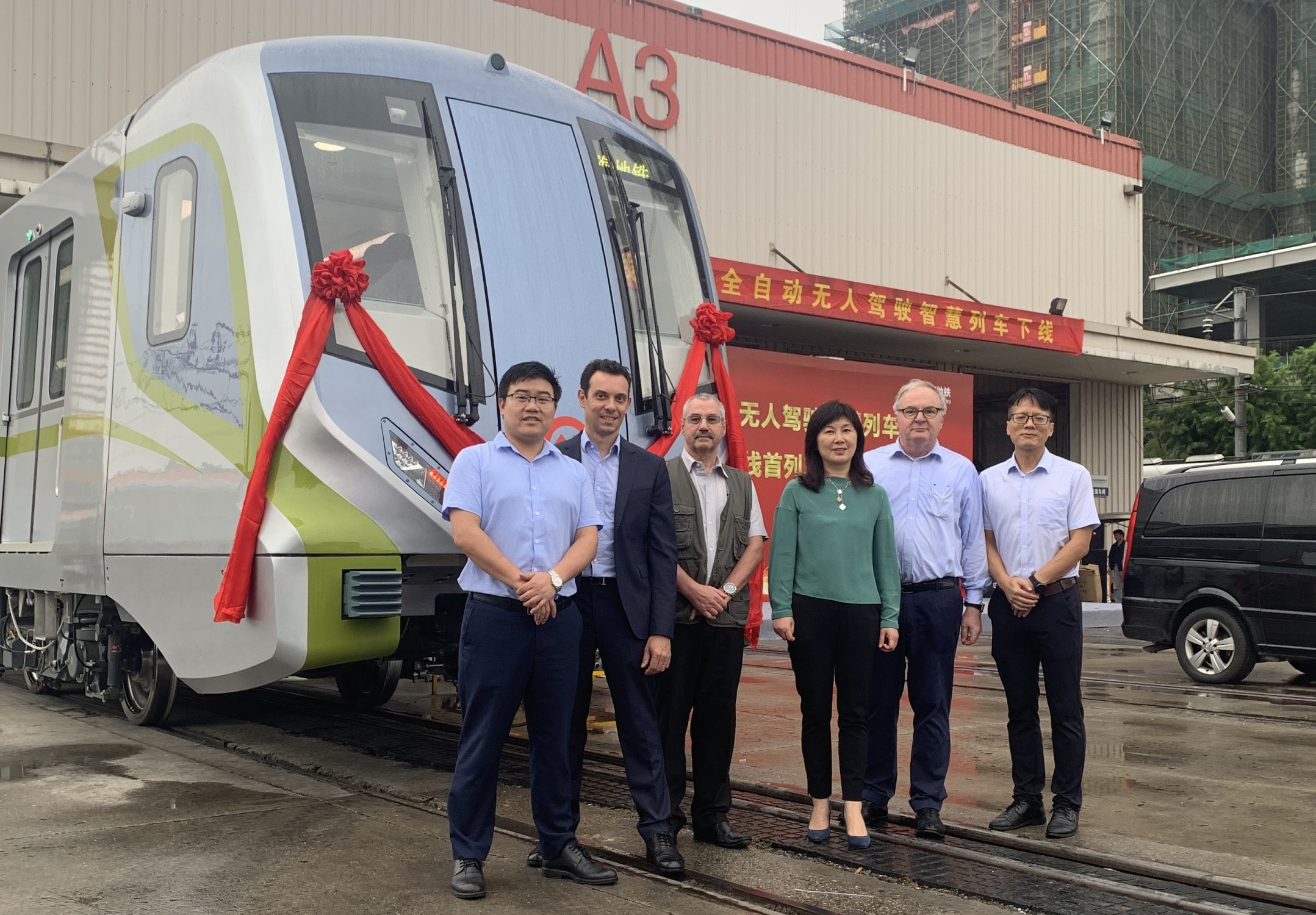 Bombardier Shanghai metro train with MITRAC propulsion system