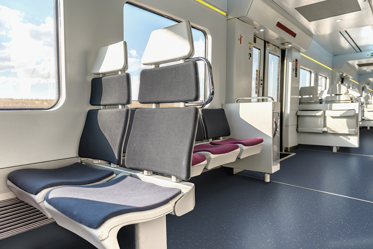 Altro Transflor Motus in Union installed on a commuter train