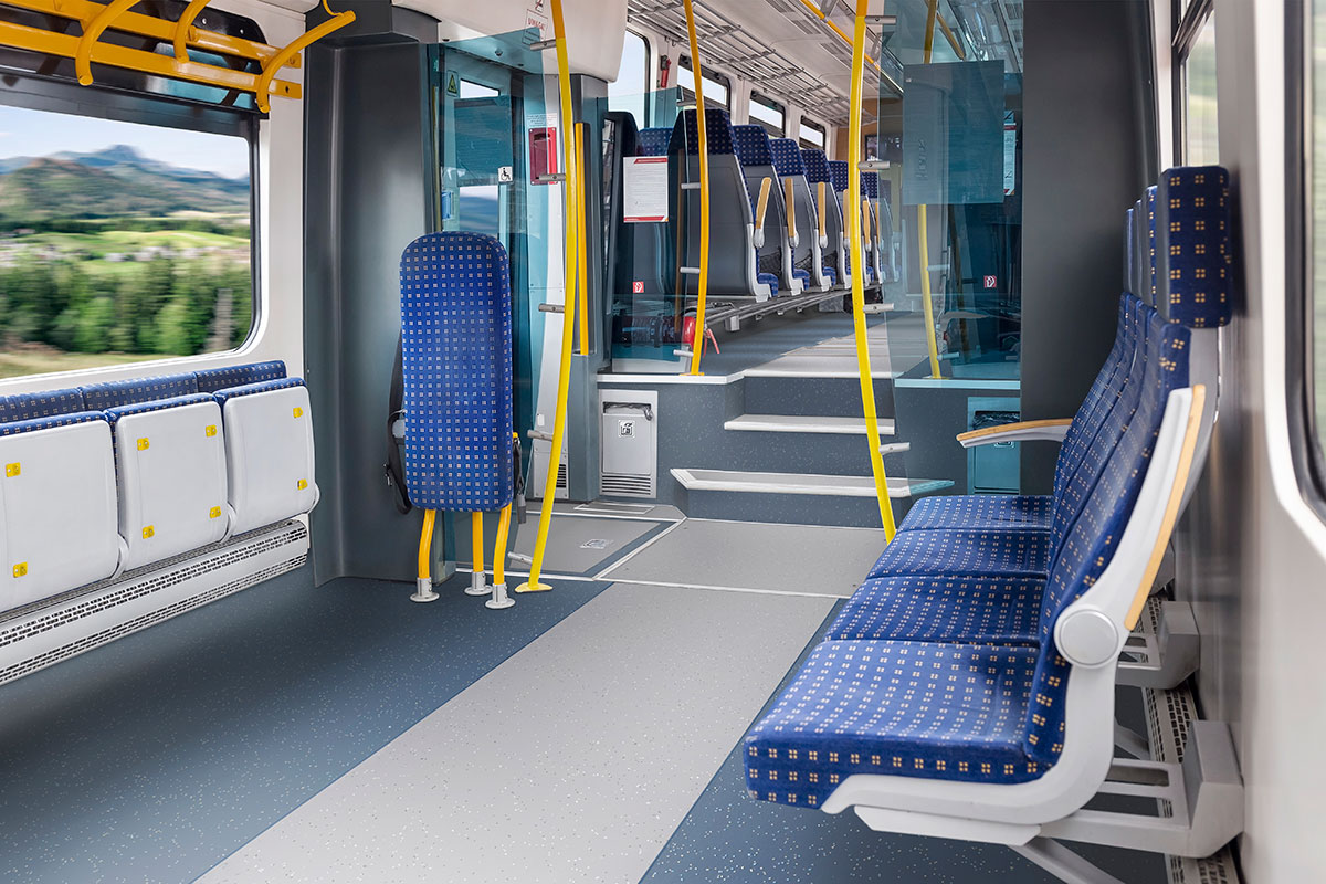 Altro Transflor Motus in Union and Central installed on a commuter train