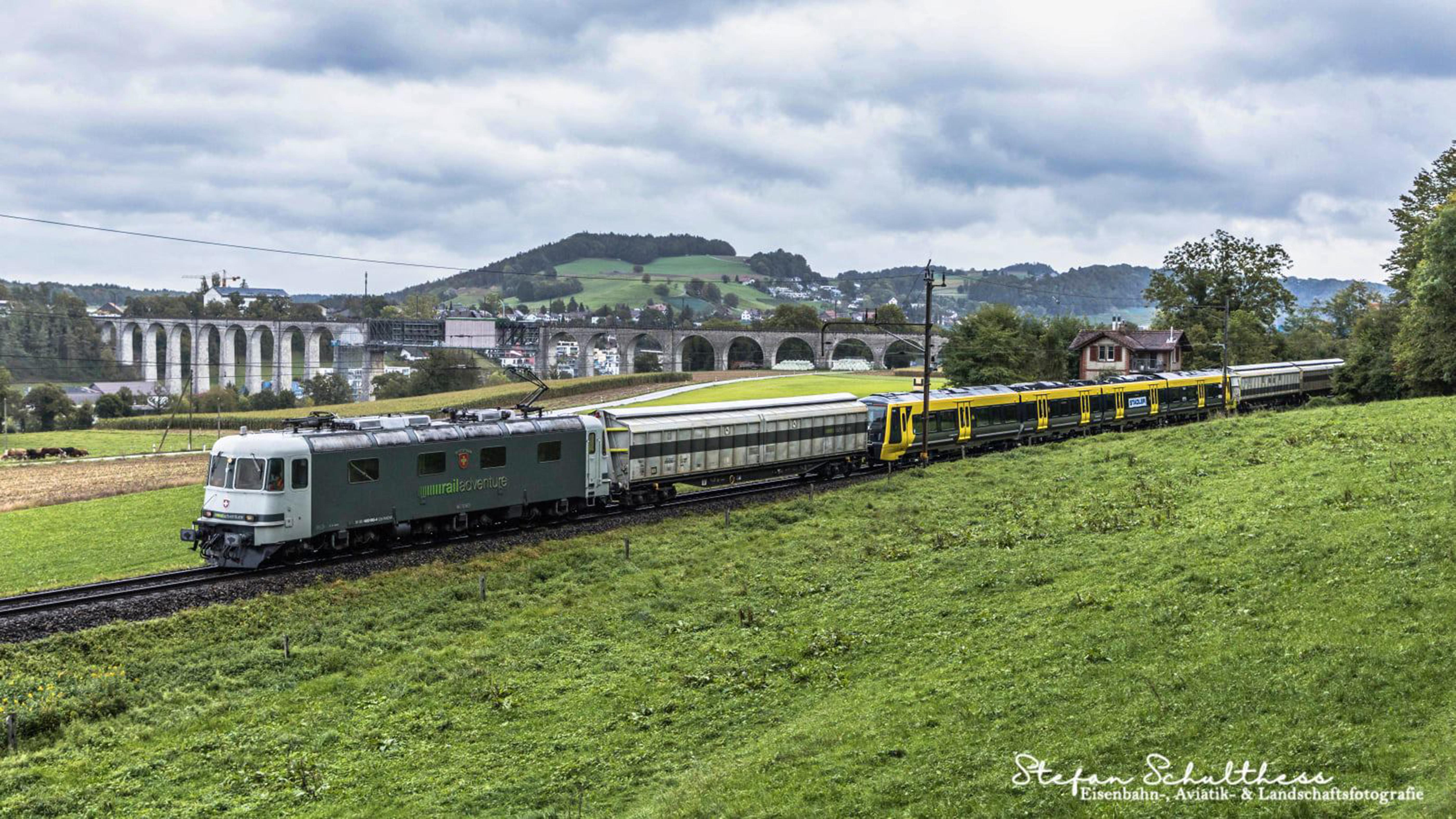 New Stadler train for Merseyrail en route to test track