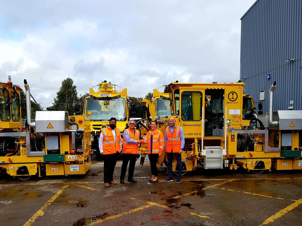 Handover of ROMITAMP Tamping Machines to Network Rail Scotland
