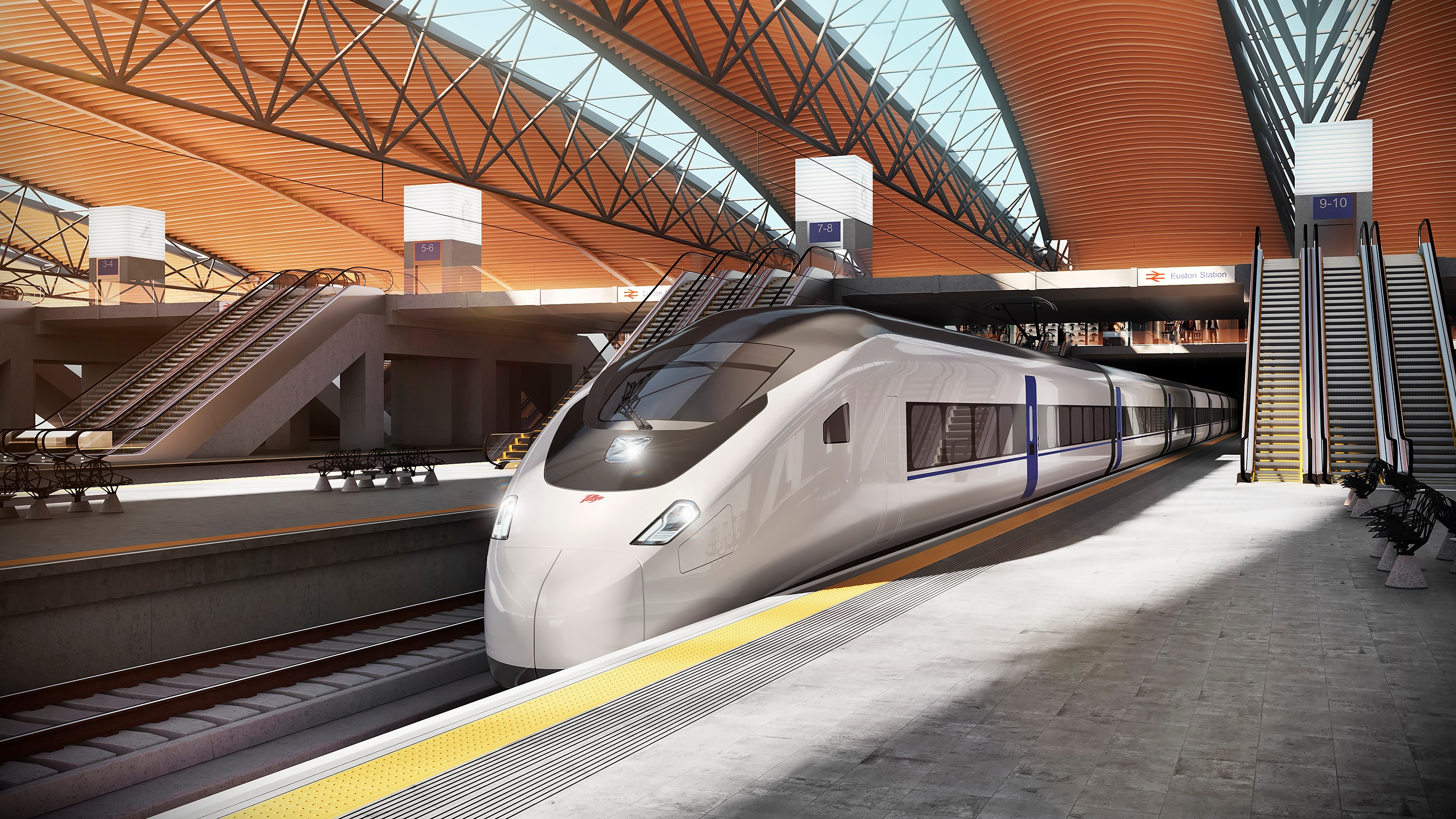 Talgo HS2 train for the UK render